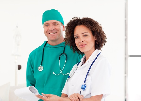 Portrait of doctor and surgeon together Stock Photo - 10074826