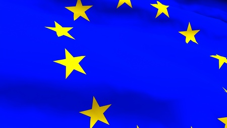 Highly Detailed 3d render of an EU Flag photo