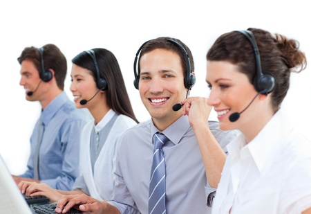 Concentrated customer service representatives  photo