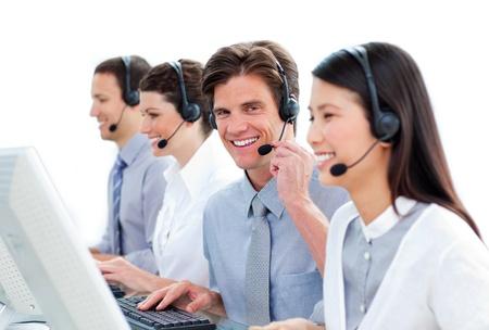 Positive customer service representatives  photo