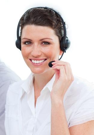 Beautiful female customer service representatives photo