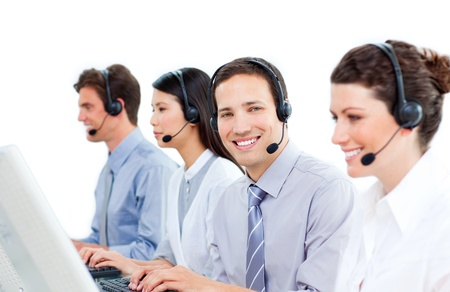 Diverse business team working at computer Stock Photo - 10075730