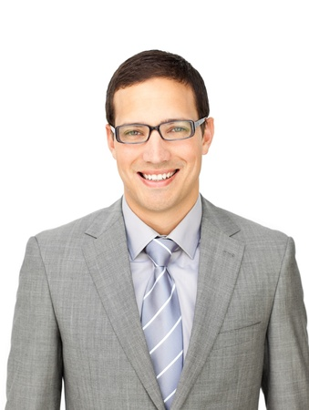 Charming businessman wearing glasses