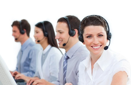 Multi-ethnic business co-workers working together Stock Photo - 10075855