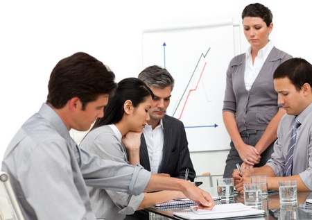 Serious business group at a presentation Stock Photo - 10088868