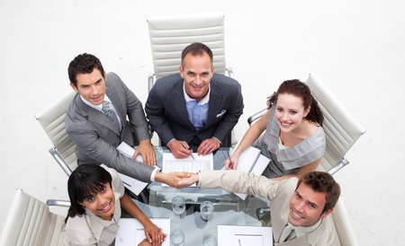 businessmeeting: Business team working together in an office Stock Photo
