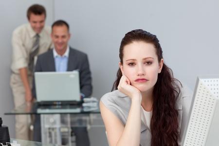 Bored attractive businesswoman  photo