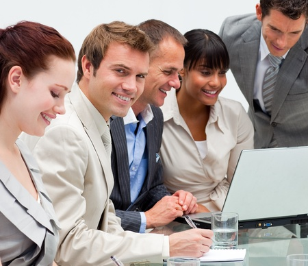Young businessman working with his team Stock Photo - 10075460