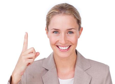Assertive businesswoman making notes on her agenda Stock Photo - 10075631