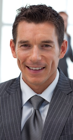 Close-up of an attractive businessman photo