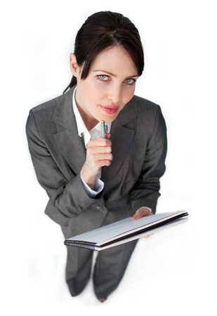 Close-up of a businesswoman holding a key  photo