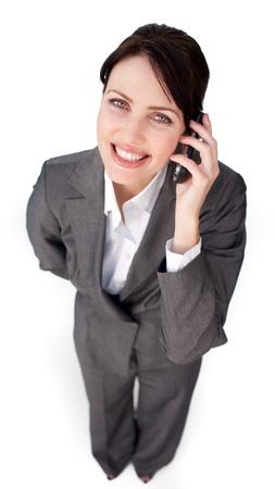 Radiant businesswoman on phone  photo