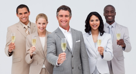 Business team celebrating a success with champagne Stock Photo - 10091265