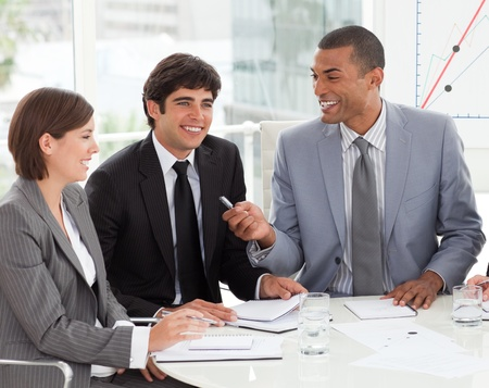 Young business people discussing a new strategy Stock Photo - 10091777