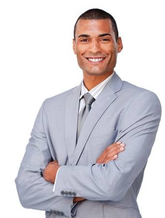 Young businessman smiling at the camera Stock Photo - 10094317