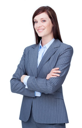 Attractive businesswoman with folded arms  photo