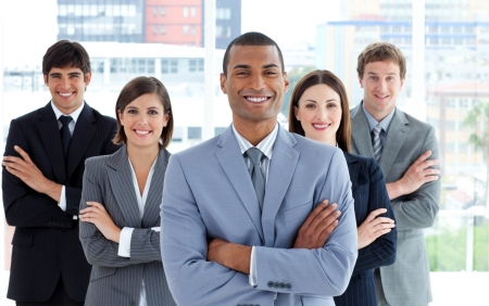 Portrait of a confident business team Stock Photo - 10092779