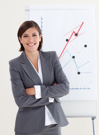 Confident businesswoman with folded arms Stock Photo - 10095052
