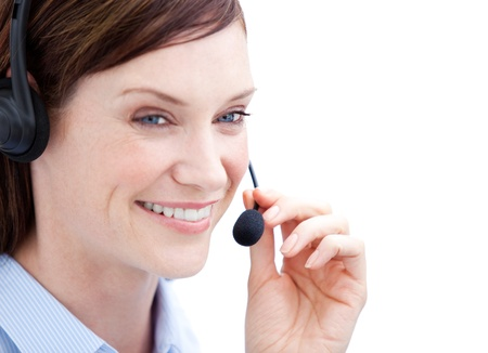 Portrait of a charismatic customer agent at work photo