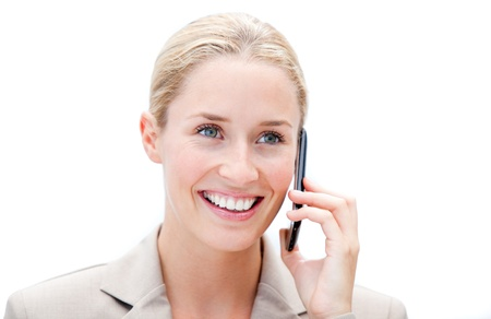 Portrait of a businesswoman phoning photo