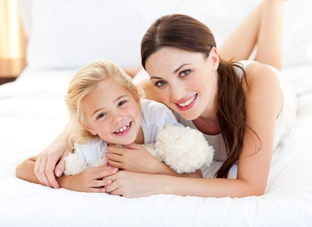 Portrait of a smiling mother and her little girl Stock Photo - 10093124