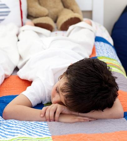 Cute Little boy sleeping photo