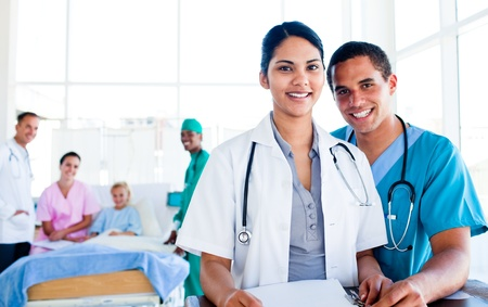 Portrait of a united medical team at work Stock Photo - 10092233