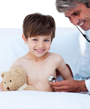 Little boy attending a medical check-up  Stock Photo - 10093282