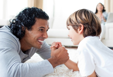 Happy father playing with his son Stock Photo - 10092705