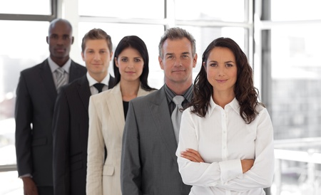 businessteamwork: Business woman leading a business team