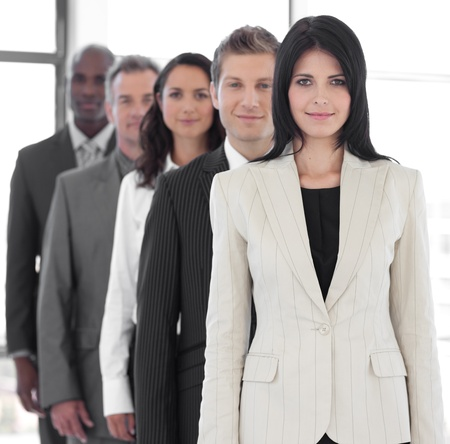 businessteamwork: Female business leader Stock Photo