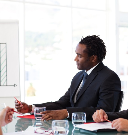 Afro-American businessman in a meeting photo