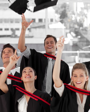 Group of people Graduating from College Stock Photo - 10093939