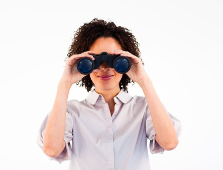 Conceptual prospects of a businesswoman close-up Stock Photo - 10110590
