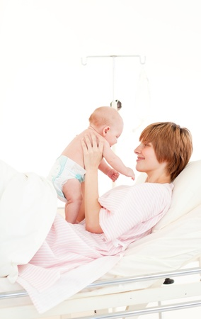 Mother playing with her baby son  Stock Photo - 10110549