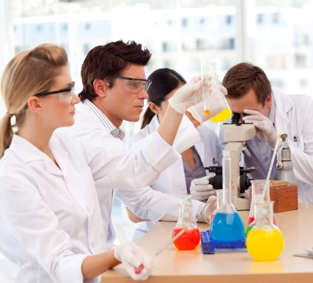 technical university: Scientists working in a laboratory Stock Photo