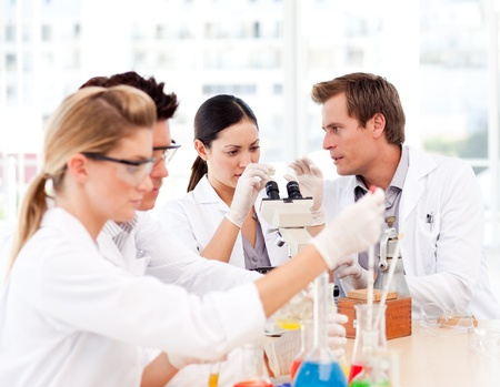 Scientists working in a laboratory Stock Photo - 10110848