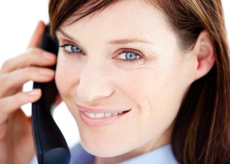 Caucasian  businesswoman on the phone Stock Photo - 10076713
