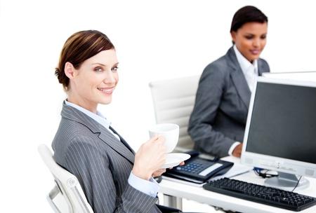 collegue: Portrait of a smiling business partners