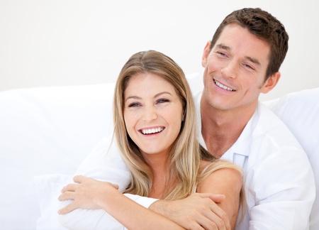 parejas felices: Pareja caucásica