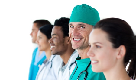 A diverse medical team standing together Stock Photo - 10093948