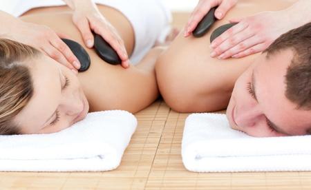 spa treatment: Young couple enjoying a Spa treatment