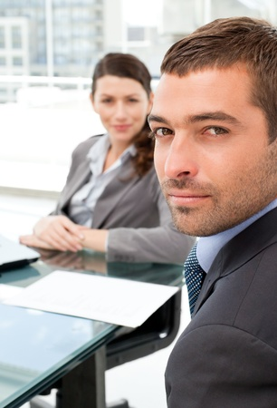 Charismatic businessman during a meeting with his colleague Stock Photo - 10206026