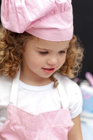 Portrait of a little chef photo