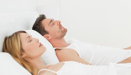 Calm couple sleeping together Stock Photo - 10207555