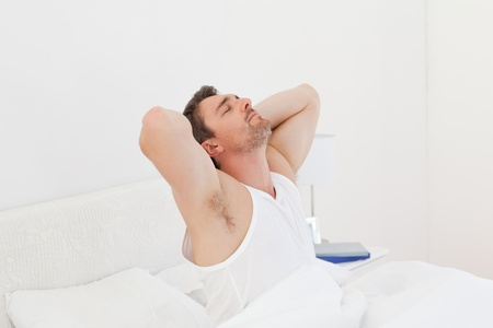 A man  waking up Stock Photo - 10214552
