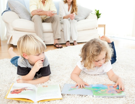 Children reading books Stock Photo - 10215109