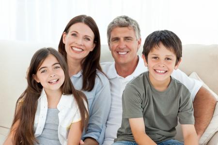 sonrisa: Retrato de una familia sonriente