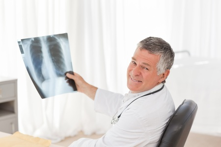 A doctor with the x-ray film