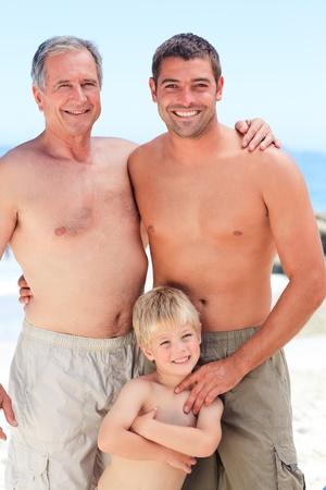 Family on the beach photo